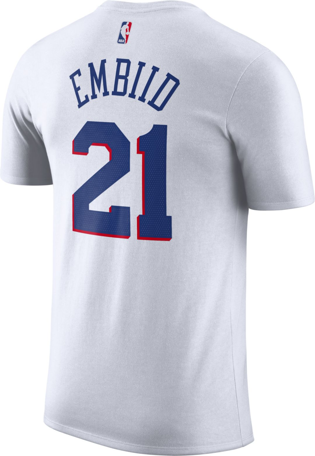 new concept 0cf38 d0ef3 Nike Men's Philadelphia 76ers Joel Embiid Dri-FIT Earned Edition T-Shirt
