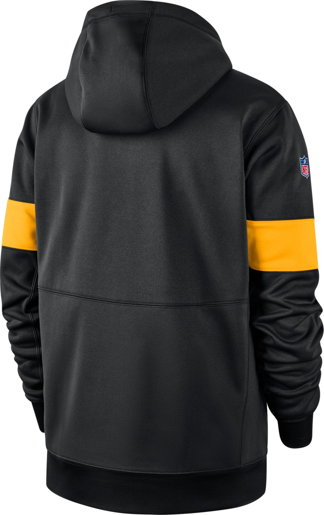 separation shoes 73c82 ec5cf Nike Men's Pittsburgh Steelers Sideline Therma-FIT Black Full-Zip Hoodie