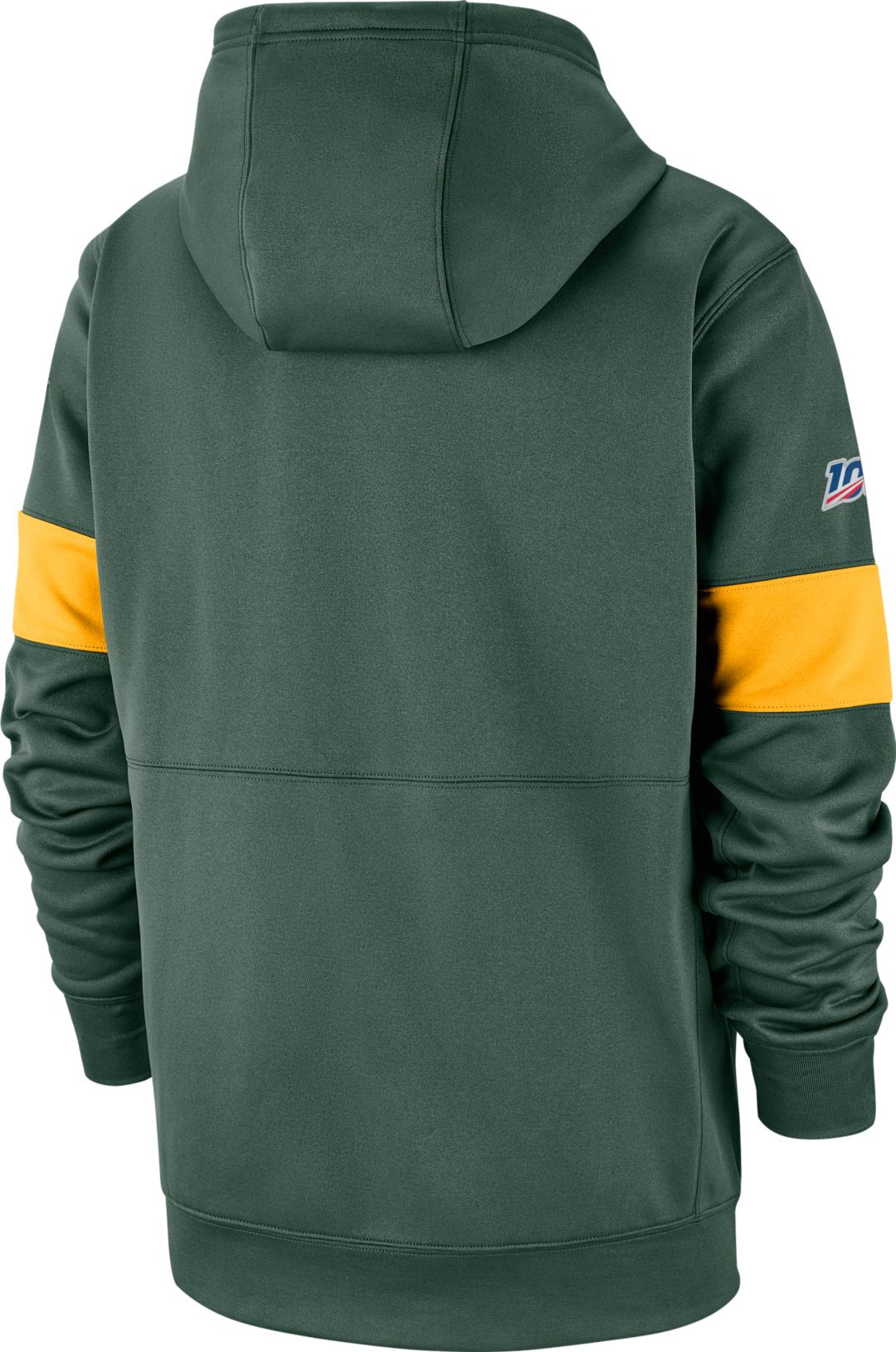 new concept ff814 0a8bb Nike Men's Green Bay Packers 100th Sideline Therma-FIT Green Pullover Hoodie