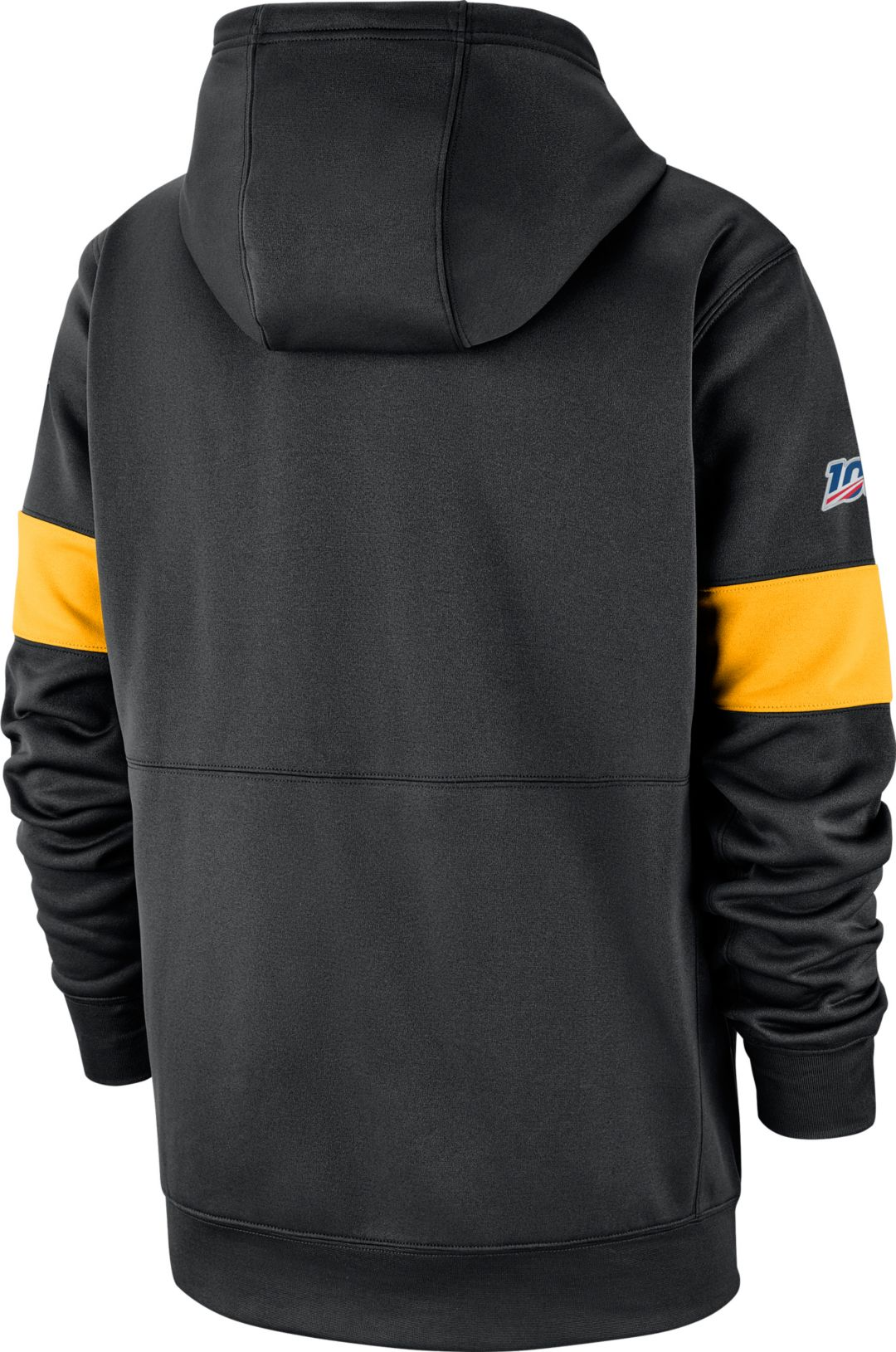huge selection of 2c75c 9ce63 Nike Men's Pittsburgh Steelers 100th Sideline Therma-FIT Black Pullover  Hoodie