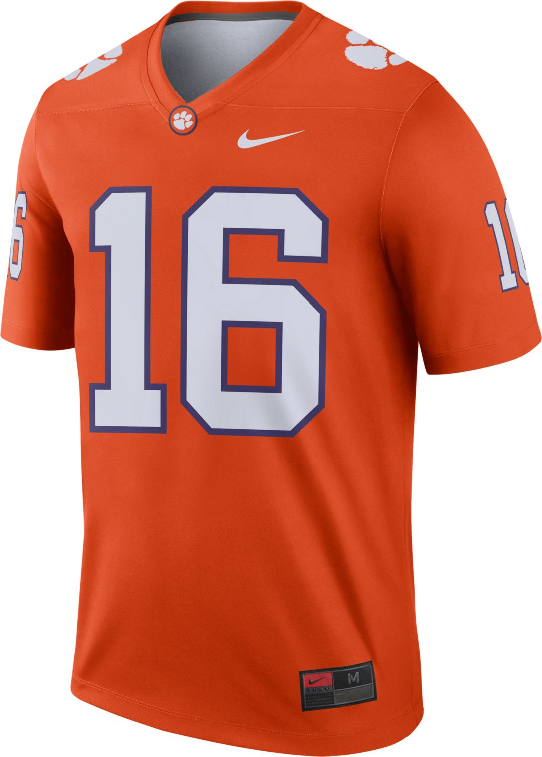 size 40 7b6ef 9c5c2 Nike Men's Clemson Tigers #16 Orange Dri-FIT Legend Football Jersey