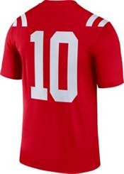 Nike Men's Ole Miss Rebels #10 Red Dri-FIT Legend Football Jersey product image