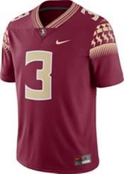 Nike Men's Florida State Seminoles #3 Garnet Dri-FIT Game Football Jersey product image