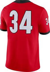 Nike Men's Georgia Bulldogs #34 Red Dri-FIT Game Football Jersey product image