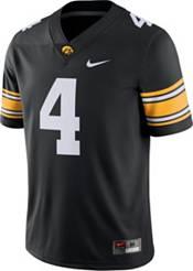 Nike Men's Iowa Hawkeyes #4 Dri-FIT Game Football Black Jersey product image
