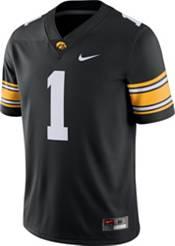 Nike Men's Iowa Hawkeyes #1 Black Dri-FIT Game Football Jersey product image