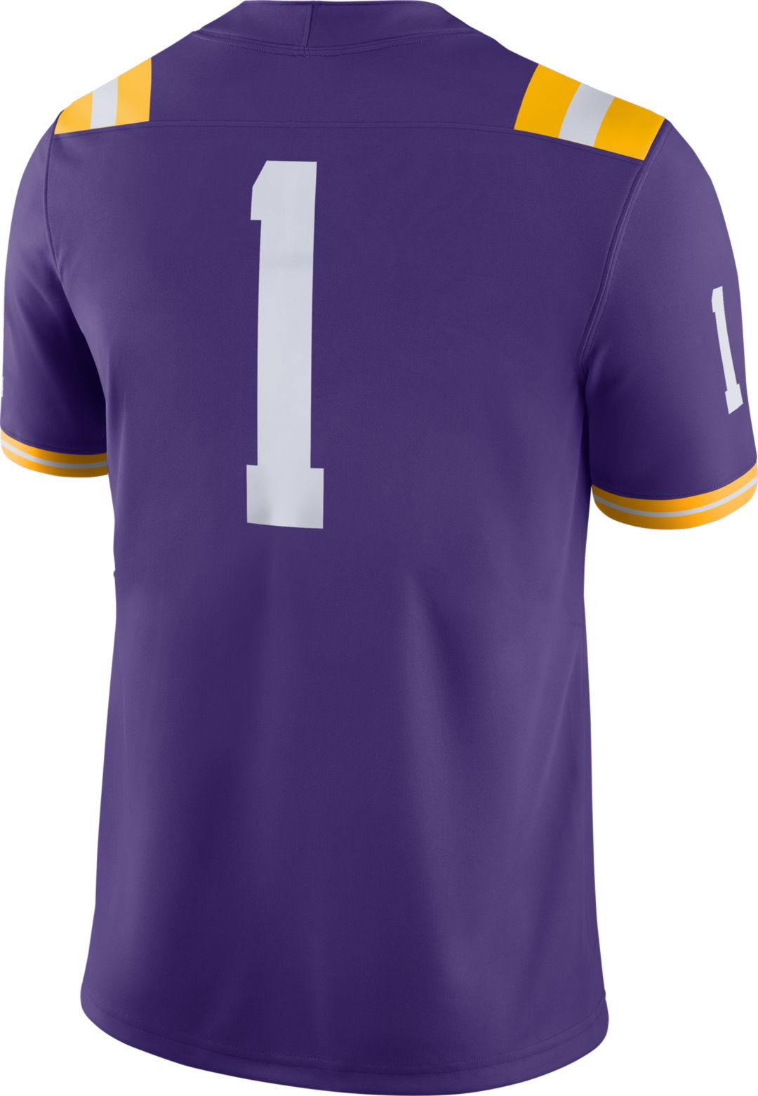 super popular ac69d 6beee Nike Men's LSU Tigers #1 Purple Dri-FIT Game Football Jersey