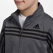 adidas Boys' Heather Colorblock Tricot Jacket product image