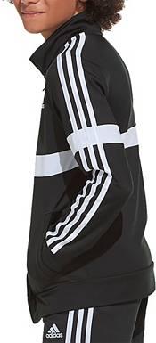 adidas Boys' Zip Front Split Logo Tricot Jacket product image