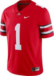 Nike Men's Ohio State Buckeyes #1 Scarlet Dri-FIT Limited Football Jersey product image