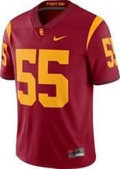 Nike Men's USC Trojans #55 Cardinal Dri-FIT Limited Football Jersey product image
