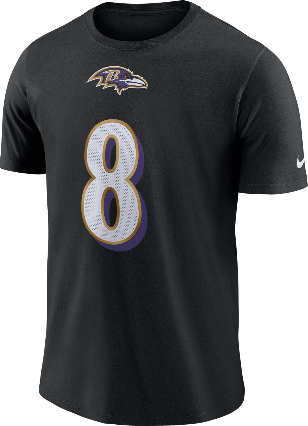 buy online 642e0 24cc5 Nike Men's Baltimore Ravens Lamar Jackson #8 Pride Logo Black T-Shirt