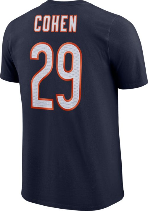 Nike Men s Chicago Bears Tarik Cohen  29 Logo Navy T-Shirt  219fa5c8a