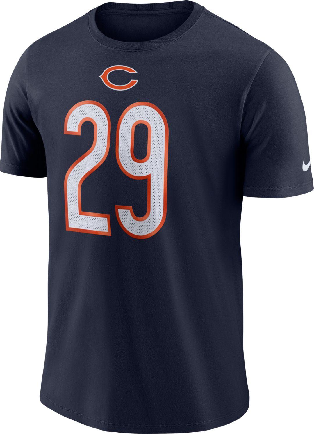 newest 9c270 c55b0 Nike Men's Chicago Bears Tarik Cohen #29 Logo Navy T-Shirt