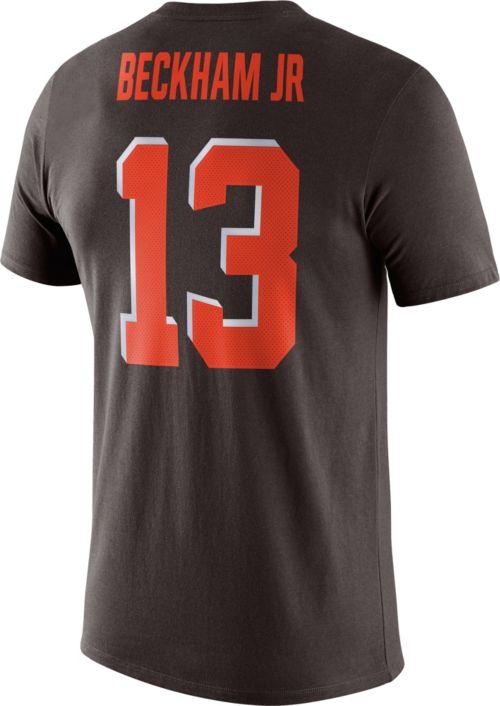 2c393da9 Nike Men's Cleveland Browns Odell Beckham Jr. #13 Logo Brown T-Shirt ...