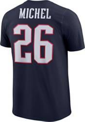 Nike Men's New England Patriots Sony Michel #26 Logo Navy T-Shirt product image
