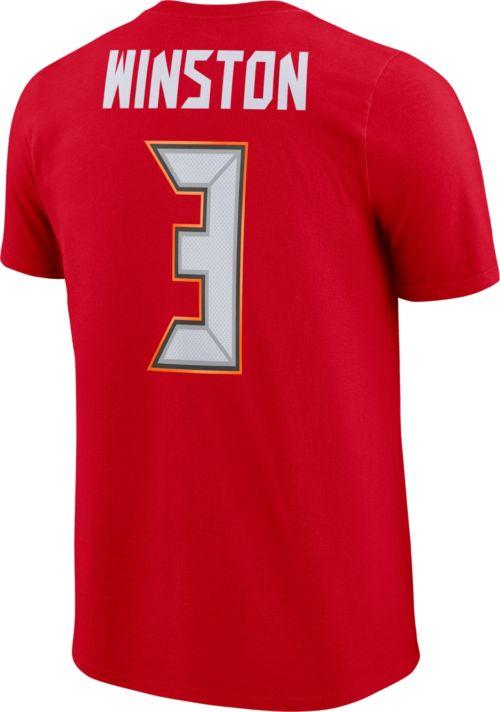 fafab62e2 Nike Men's Tampa Bay Buccaneers Jameis Winston #3 Pride Logo Red T-Shirt.  noImageFound. Previous. 1. 2. 3