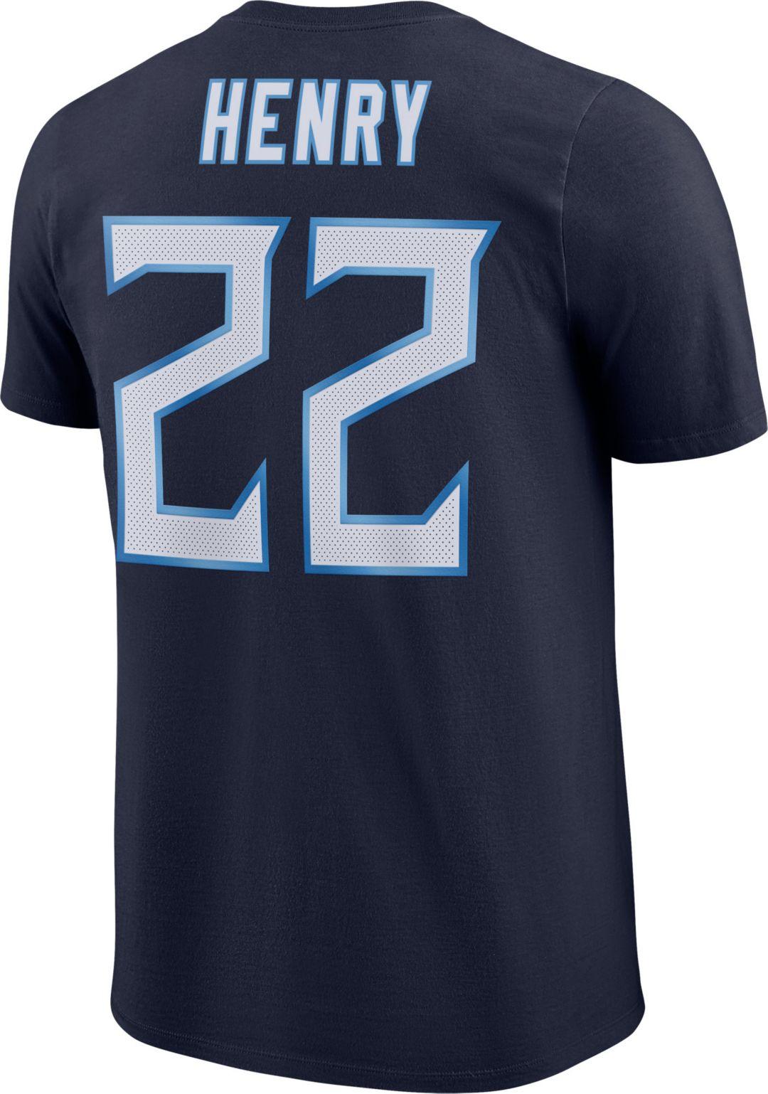 482ef38c Nike Men's Tennessee Titans Derrick Henry #22 Pride Logo Navy T-Shirt