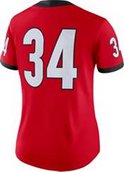 Nike Women's Georgia Bulldogs #34 Red Dri-FIT Game Football Jersey product image