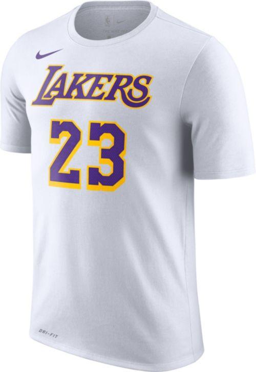 f2e42ecb Nike Men's Los Angeles Lakers LeBron James Dri-FIT White T-Shirt ...