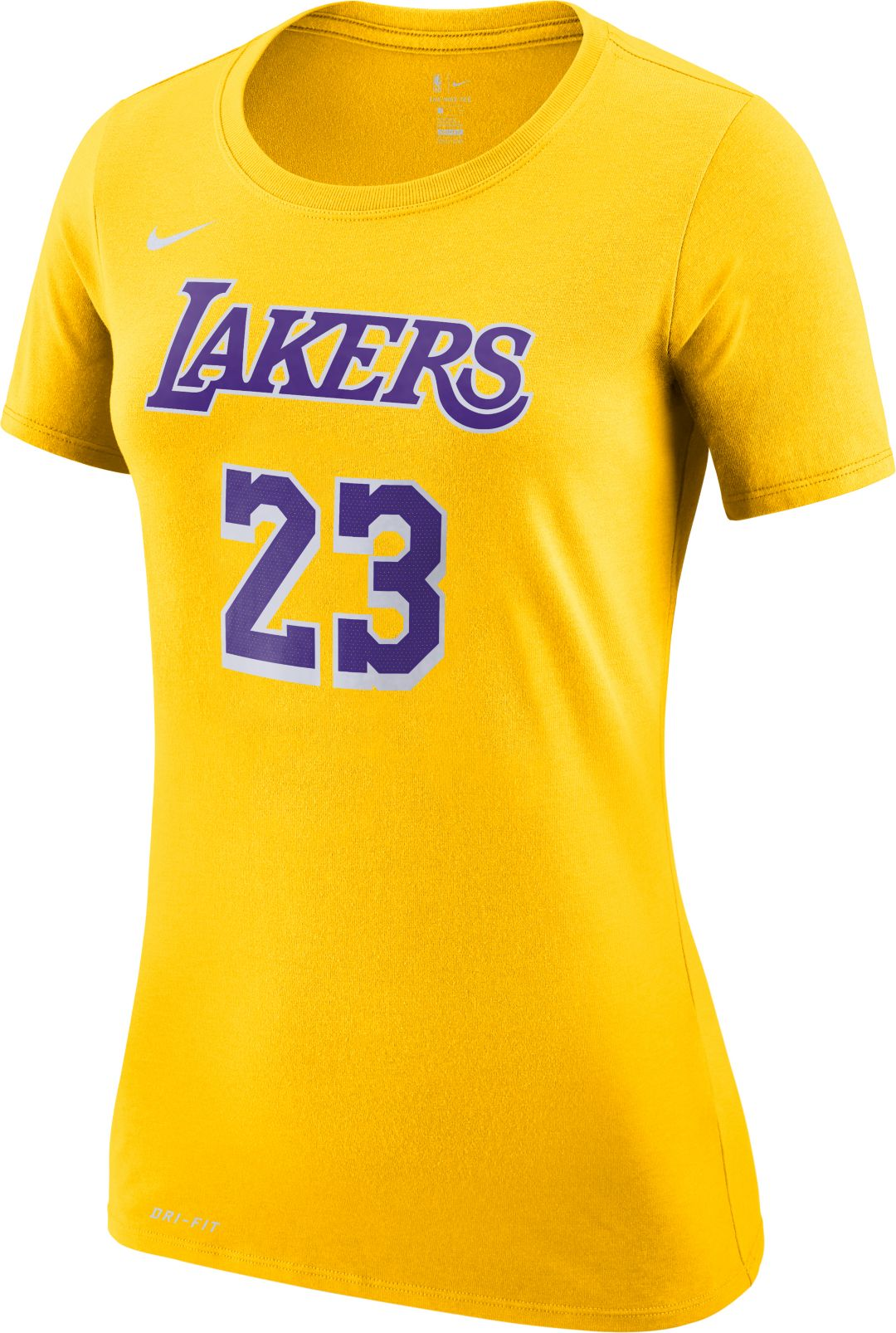 quality design 29a21 cdc0e Nike Women's Los Angeles Lakers LeBron James Dri-FIT Gold T-Shirt