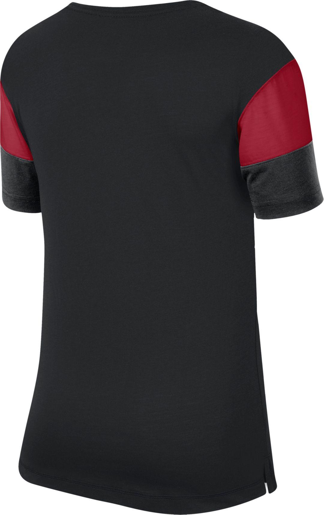 17acf15f Nike Women's Atlanta Falcons Breathe Black V-Neck T-Shirt