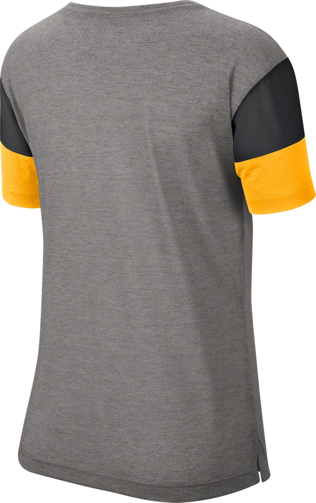 4df96283 Nike Women's Pittsburgh Steelers Breathe Heather Grey V-Neck T-Shirt