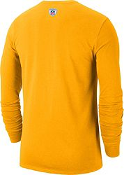 Nike Men's Pittsburgh Steelers Sideline Property Of Long Sleeve Gold Shirt