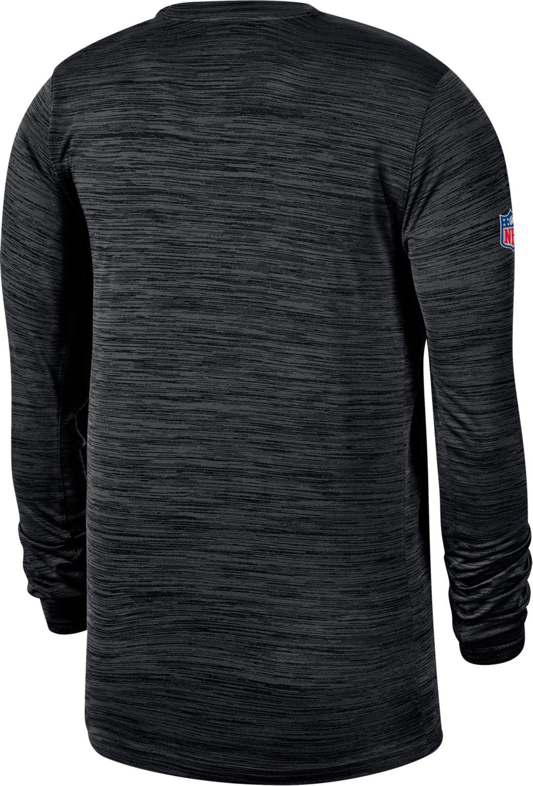 size 40 3c72c 4eff3 Nike Men's Pittsburgh Steelers Sideline Legend Velocity Black Long Sleeve  Shirt