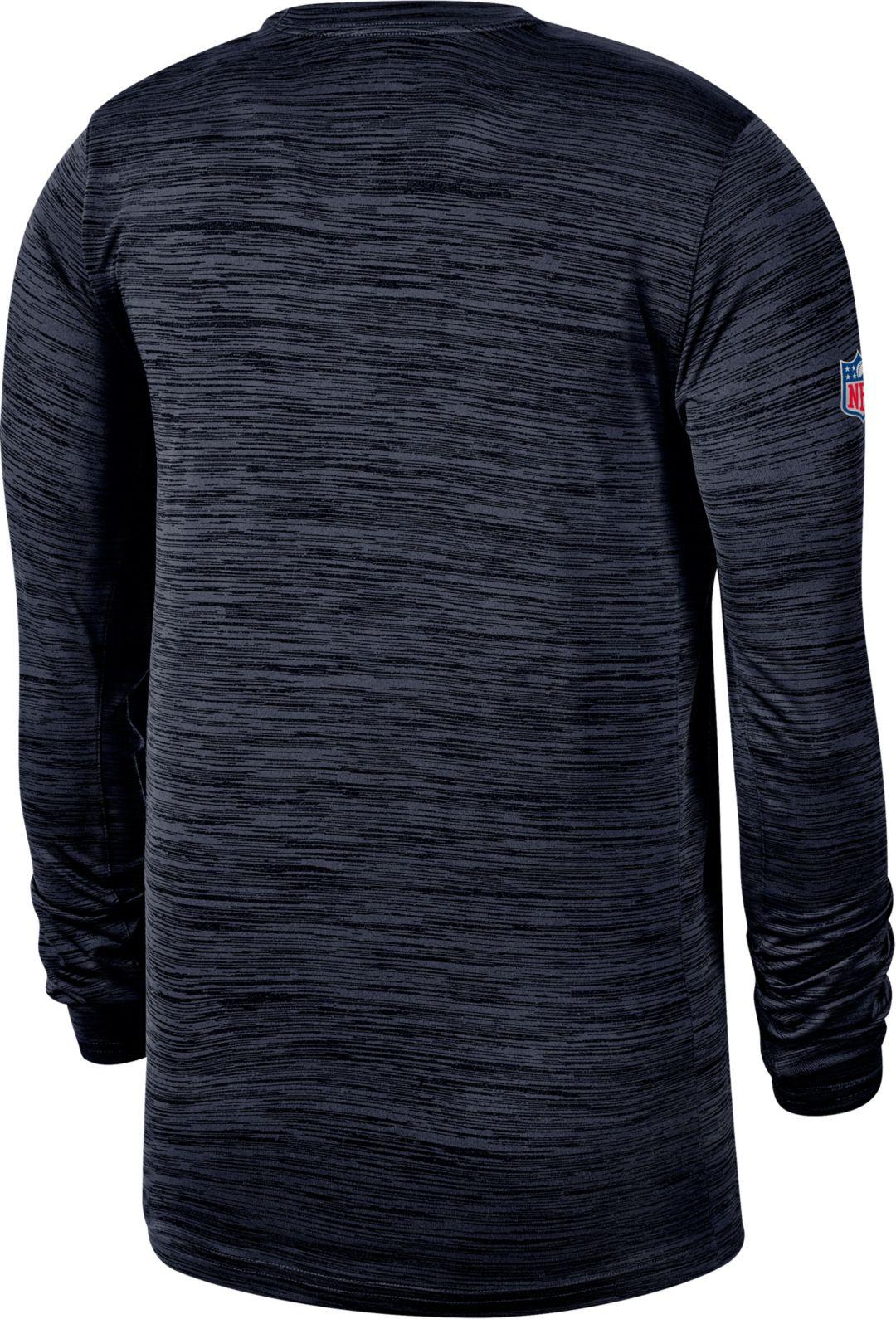 d7ce1b64 Nike Men's Tennessee Titans Sideline Legend Velocity Navy Long Sleeve Shirt