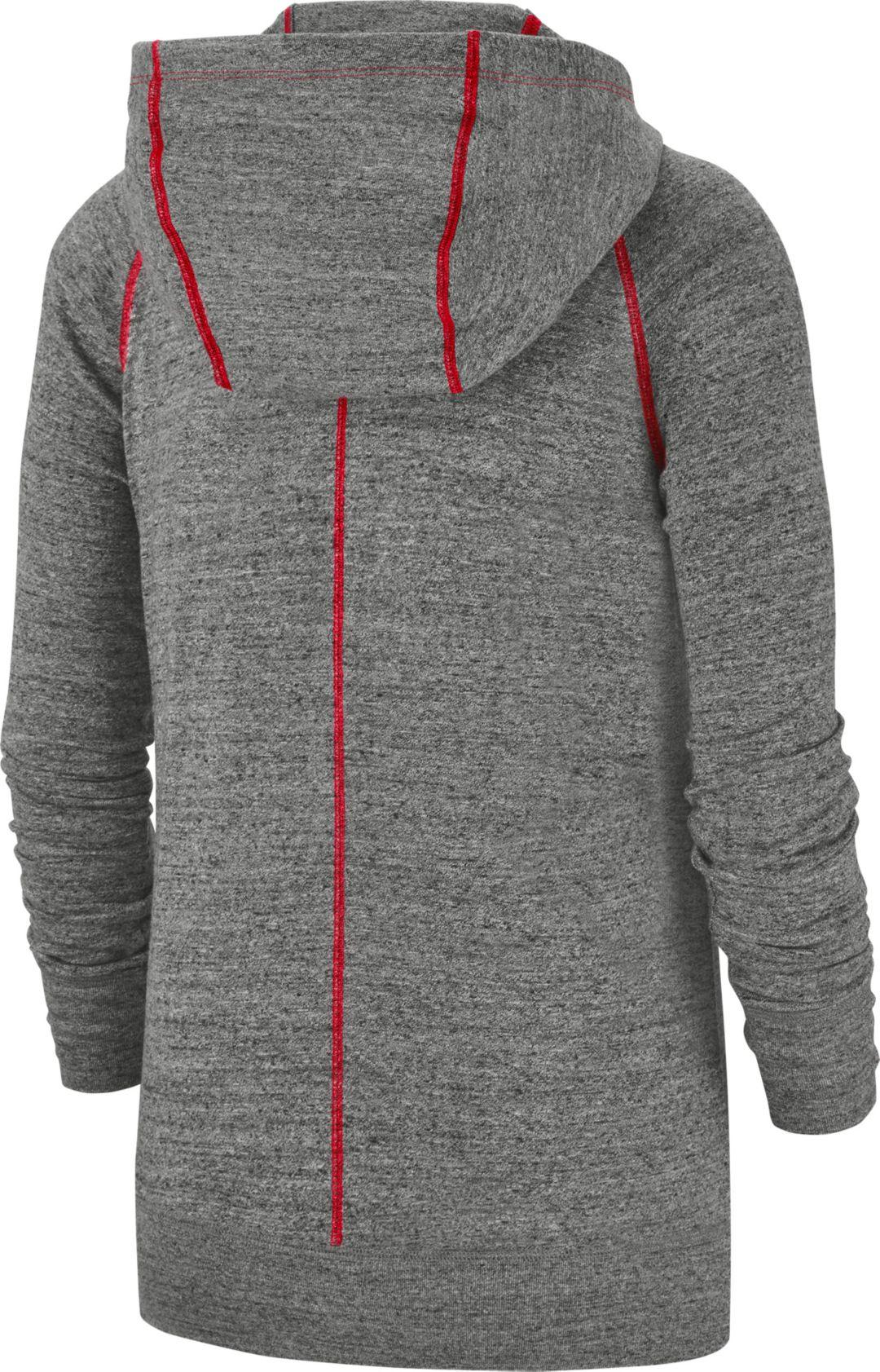 premium selection 646b9 84705 Nike Women's Buffalo Bills Vintage Grey Full-Zip Hoodie
