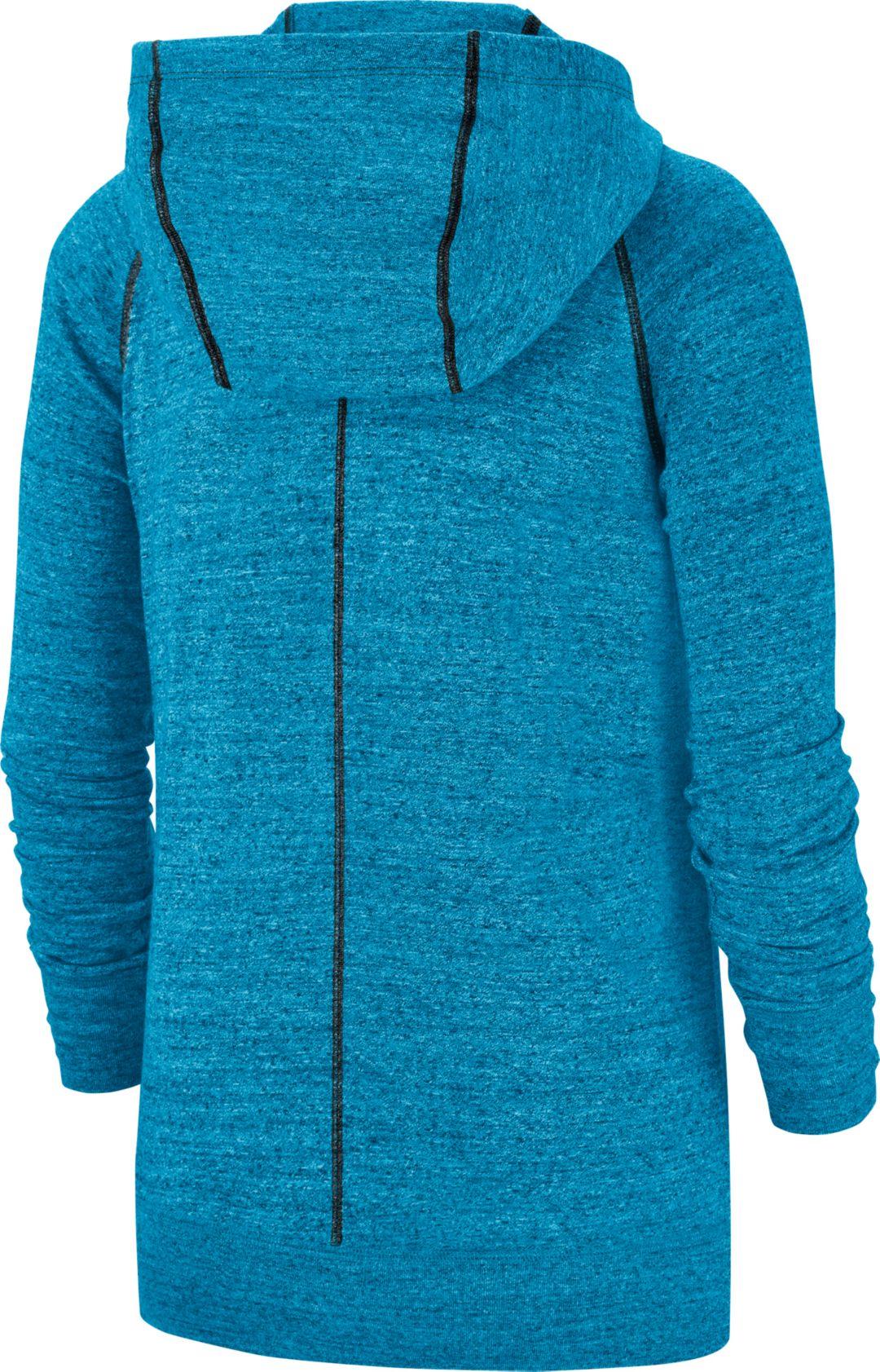 pretty nice 96fb2 bd3d4 Nike Women's Carolina Panthers Vintage Blue Full-Zip Hoodie