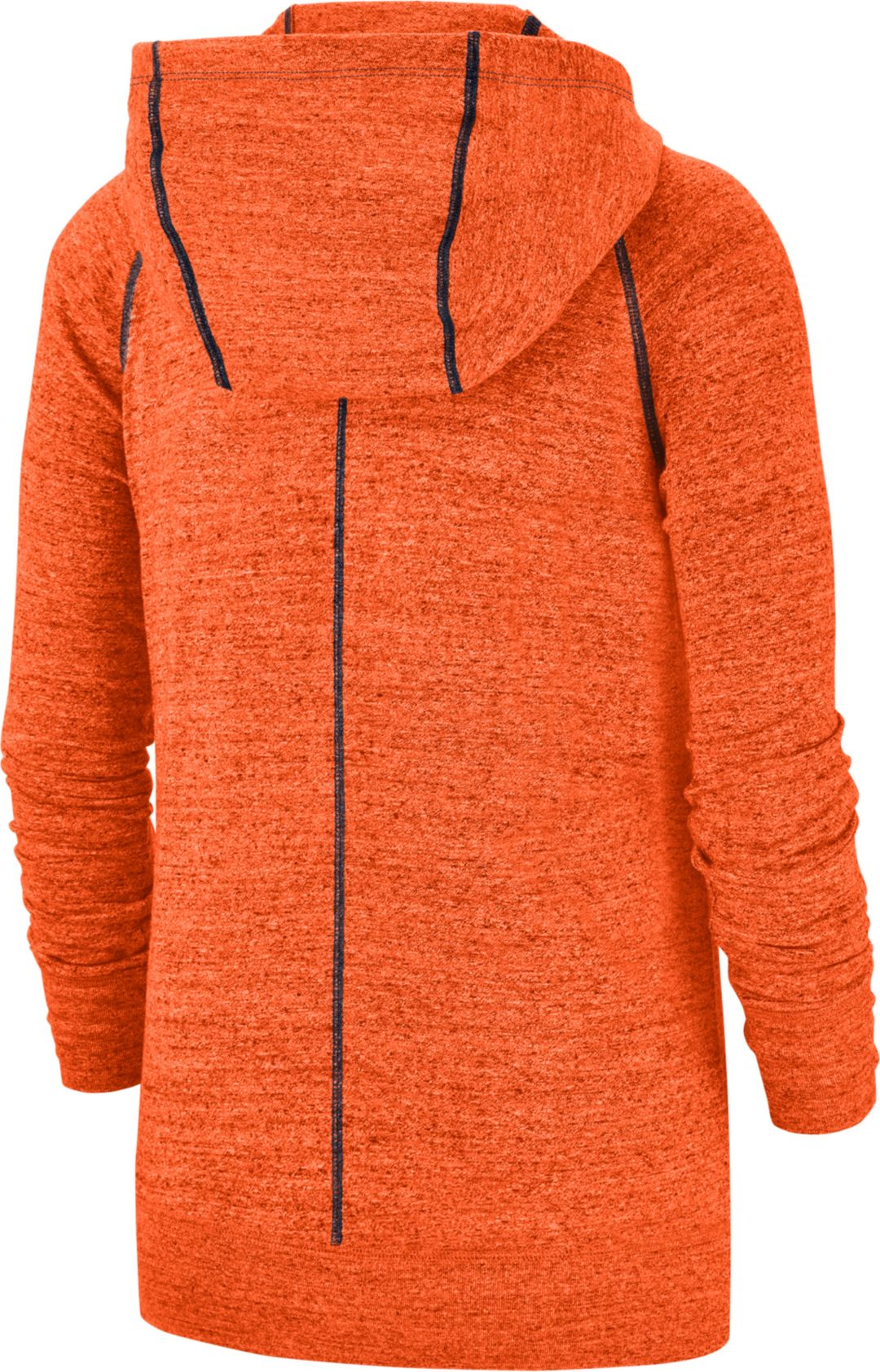 big sale 1e7a5 7fdd4 Nike Women's Denver Broncos Vintage Orange Full-Zip Hoodie