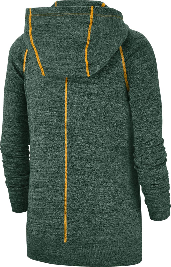 best service eead4 388e1 Nike Women's Green Bay Packers Vintage Green Full-Zip Hoodie