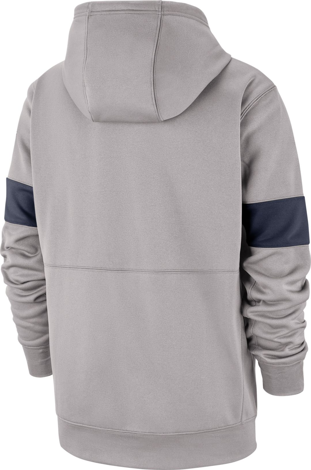 e82863fe Nike Men's Penn State Nittany Lions Grey Therma Football Sideline Pullover  Hoodie