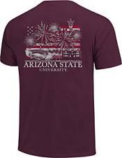 Image One Men's Arizona State Sun Devils Maroon Americana Fireworks T-Shirt product image