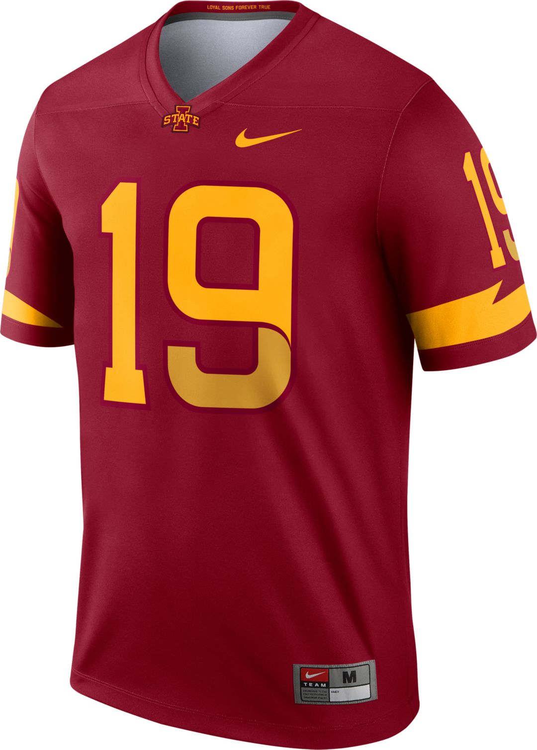 half off 22bb0 f2445 Nike Men's Iowa State Cyclones #19 Cardinal Dri-FIT Legend Football Jersey