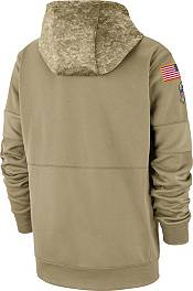 Nike Men's Salute to Service Chicago Bears Therma-FIT Beige Camo Hoodie product image
