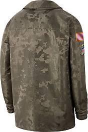 Nike Men's Salute to Service Carolina Panthers Olive Lightweight Camo Jacket product image