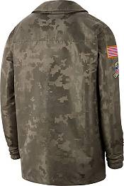 Nike Men's Salute to Service Detroit Lions Olive Lightweight Camo Jacket product image