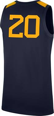 Nike Men's West Virginia Mountaineers #20 Blue Replica Basketball Jersey product image