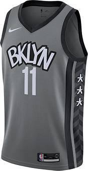 Nike Men's Brooklyn Nets Kyrie Irving #11 Grey Dri-FIT Statement Swingman Jersey product image
