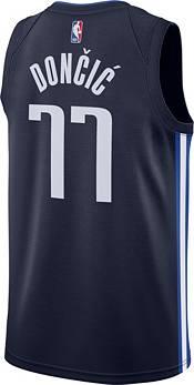 Nike Men's Dallas Mavericks Luka Doncic #77 Navy Dri-FIT Statement Swingman Jersey product image