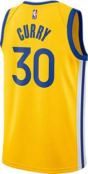 Nike Men's Golden State Warriors Stephen Curry #30 Gold Dri-FIT Statement Swingman Jersey product image