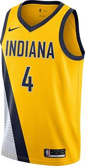 Nike Men's Indiana Pacers Victor Oladipo #4 Gold Dri-FIT Statement Swingman Jersey product image