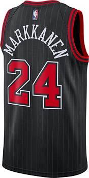 Nike Men's Chicago Bulls Lauri Markkanen #24 Black Statement Dri-FIT Swingman Jersey product image