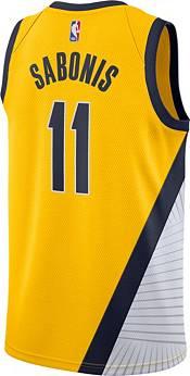Nike Men's Indiana Pacers Domantas Sabonis #11 Yellow Statement Dri-FIT Swingman Jersey product image