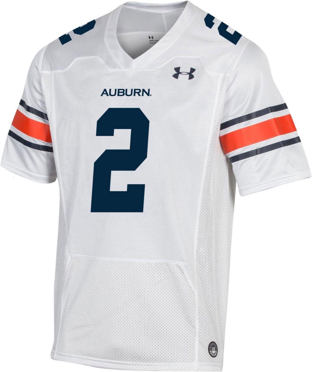 Under Armour Men S Auburn Tigers 2 Replica Football White Jersey
