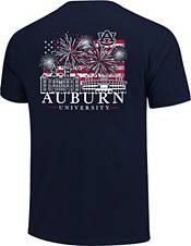 Image One Men's Auburn Tigers Blue Americana Fireworks T-Shirt product image