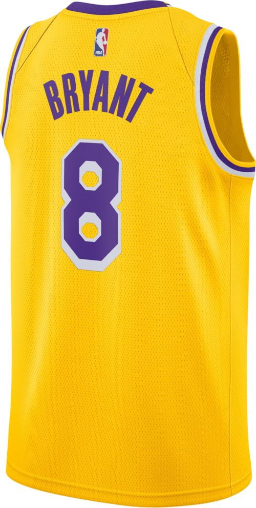 Nike Men s Los Angeles Lakers Kobe Bryant  8 Dri-FIT Gold Swingman Jersey.  noImageFound. Previous. 1. 2. 3 b2783bca1